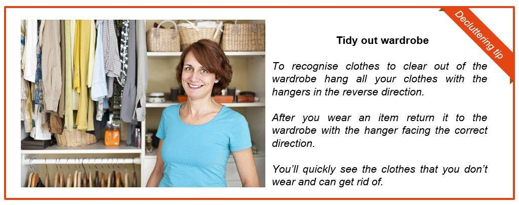 Tidy out wardrobe tip box
