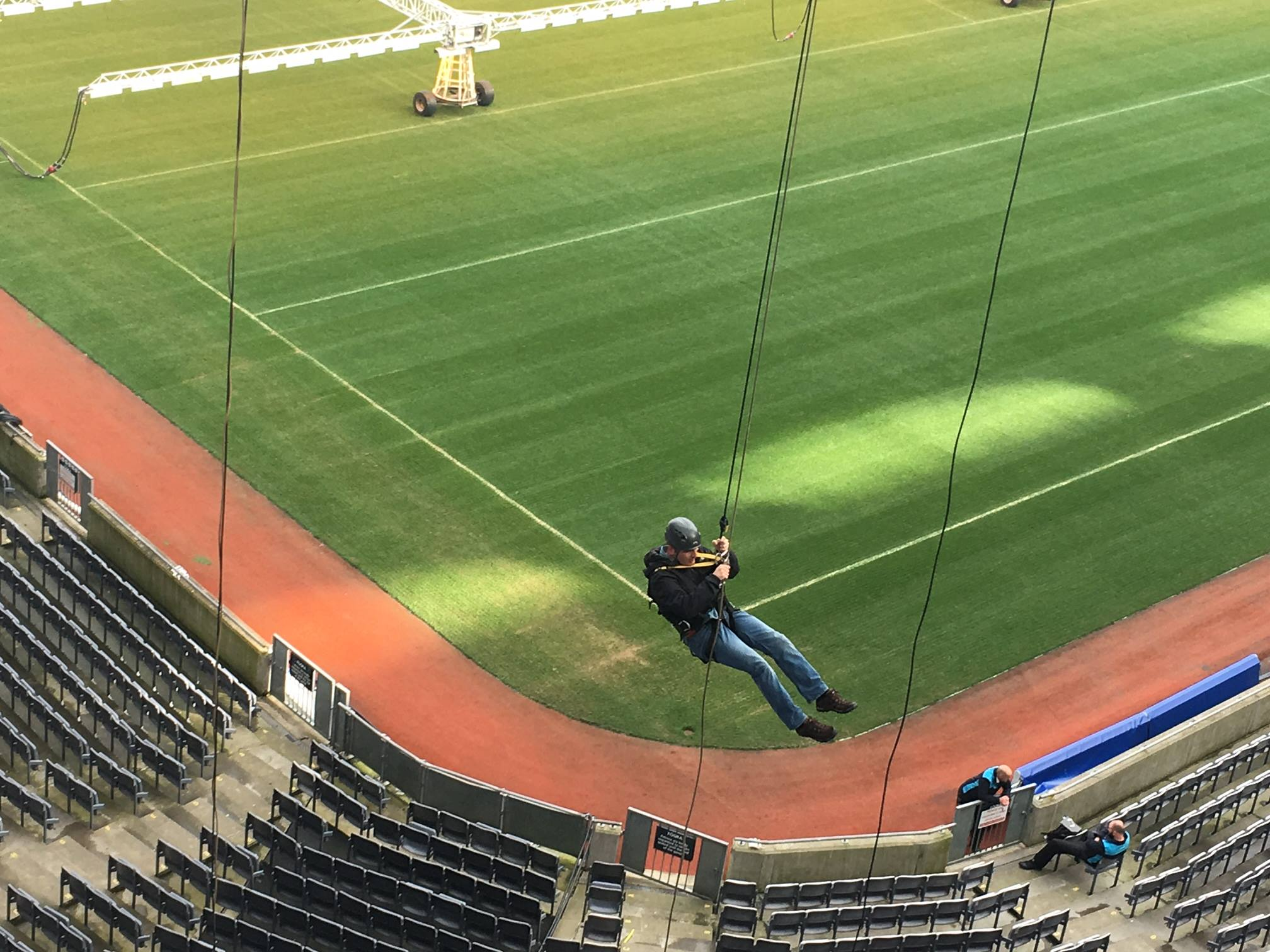 Nesta Raises €2500 Abseiling at Croke Park in Support of the ISPCC Childline