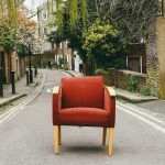 Eduard Militaru's photo of orange chair on the street