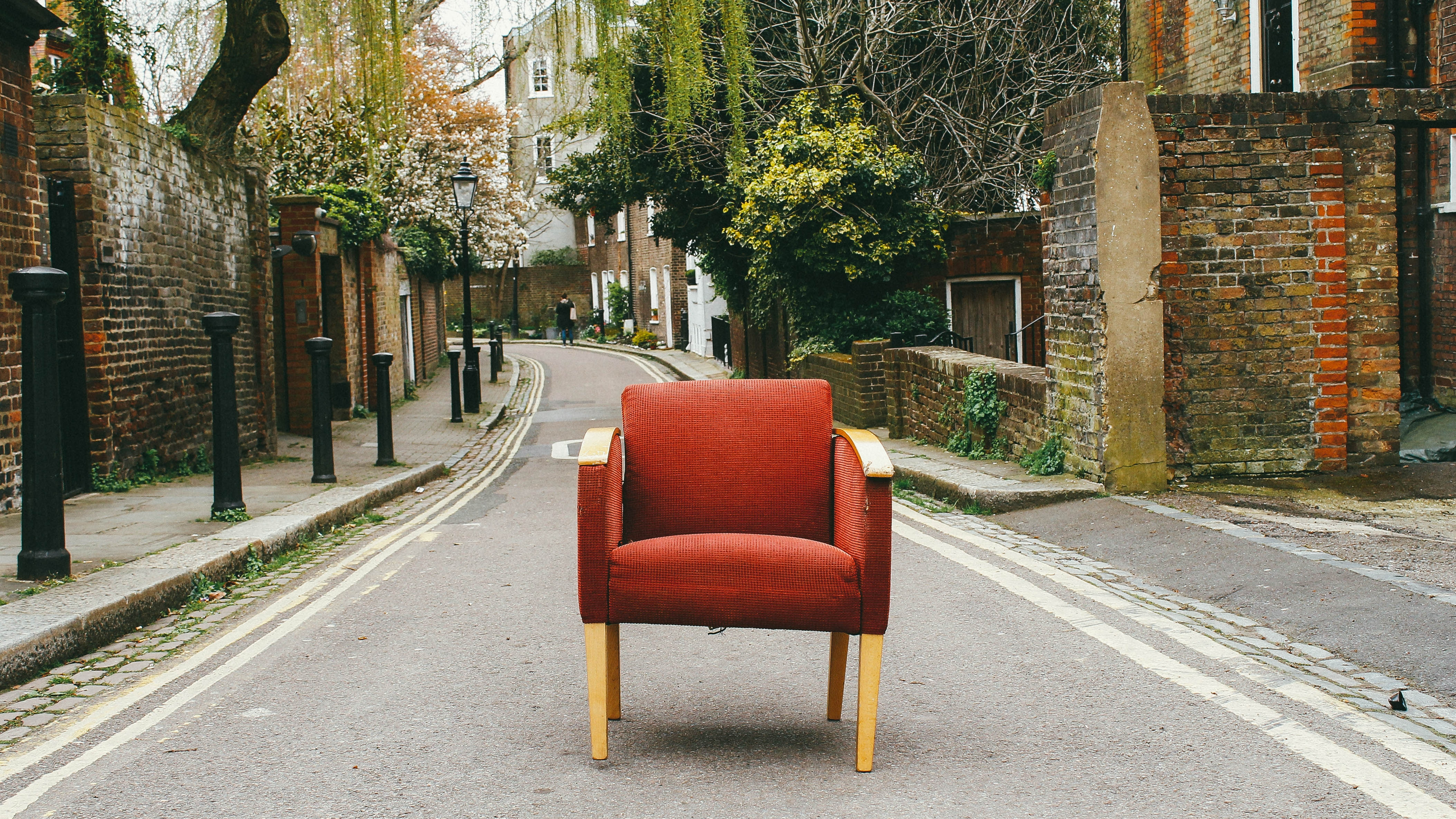 Eduard Militaru's photo of orange chair on the street