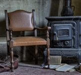 old furniture and scattered old books